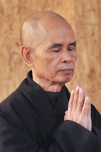 Thich Nhat Hanh praying...