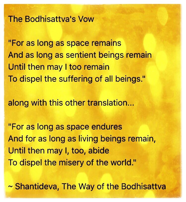 Taking the Bodhisattva Vow